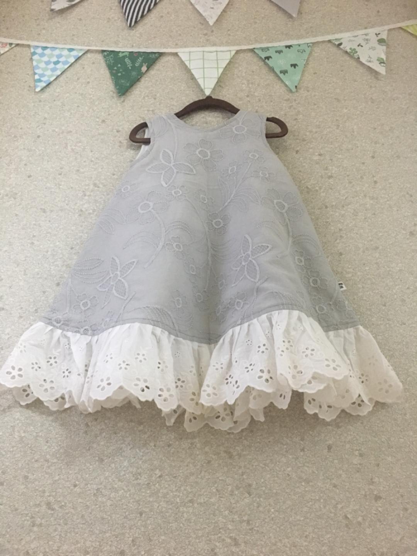 아기자수원피스(새옷)