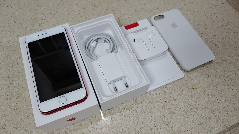 아이폰7 Red 256GB AA급(정품케이스 포함)