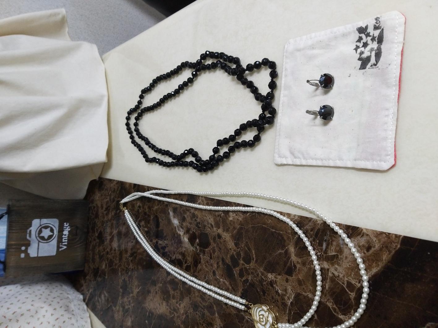 악세사리 목걸이귀걸이셋트,진주목걸이