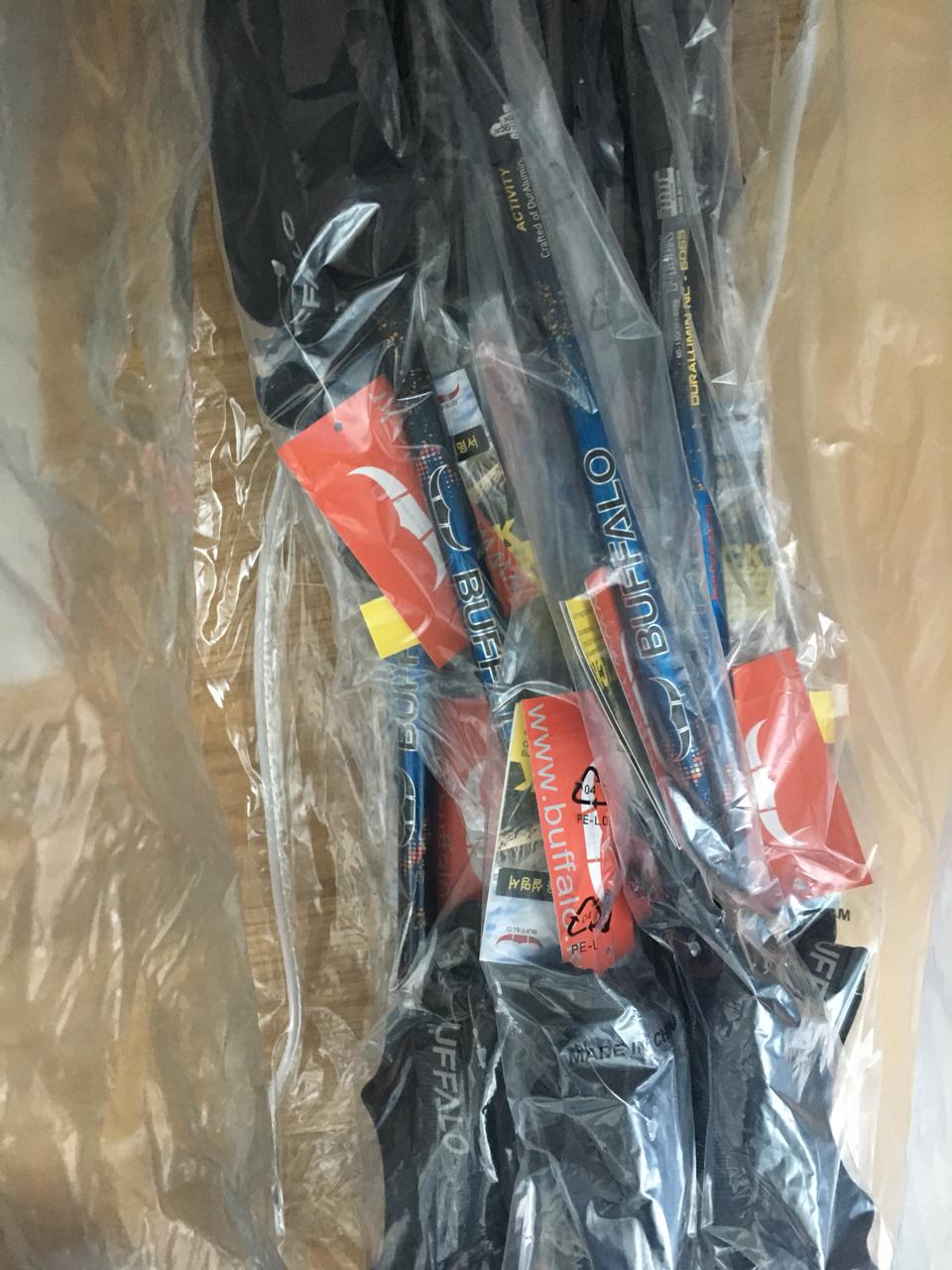 버팔로 등산 스틱 듀랄루민 210g 초경량 소재 새제품 등산용품 지팡이 등산스틱