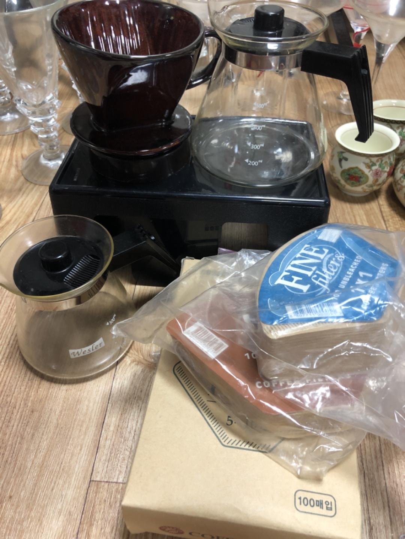 커피 핸드드리퍼 합 만원 커피용지까지 다드려요