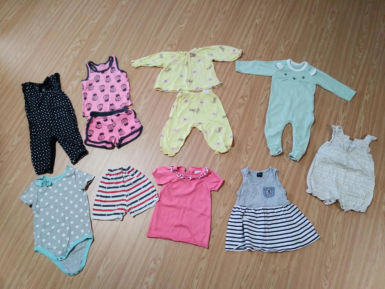 아기옷일괄 사이즈90 아기옷 우주복 여아옷 남아옷