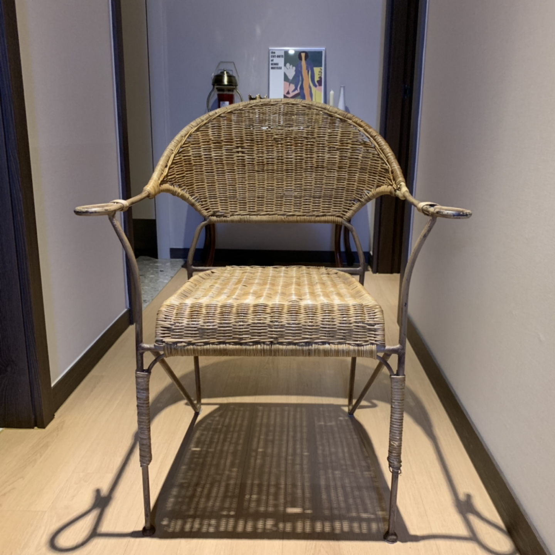 빈티지 라탄 의자 - 홈 인테리어