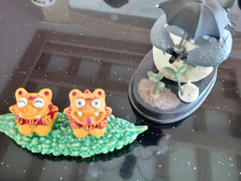 토토로인형.오키나와 기념품.2개(5월25일까지)