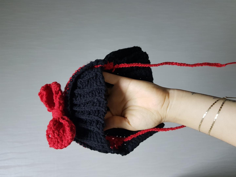 아기모자 뜨개모자(여아 단발머리 스타일)