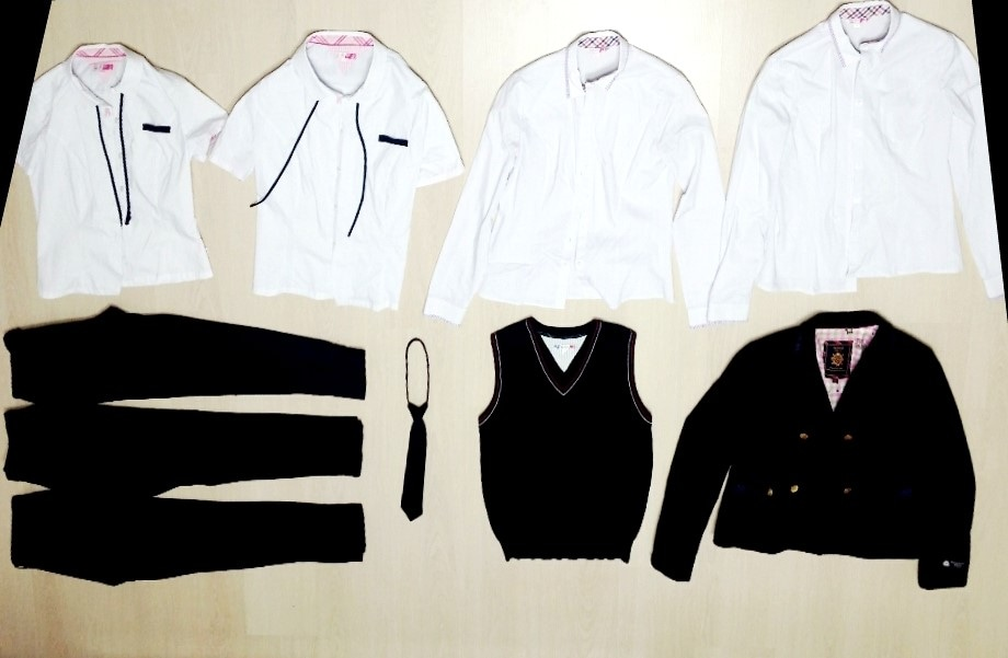 ❤미친!가격❤해남제일중학교 여자 교복 풀세트 바지 블라우스 셔츠 긴팔 니트 조끼 넥타이