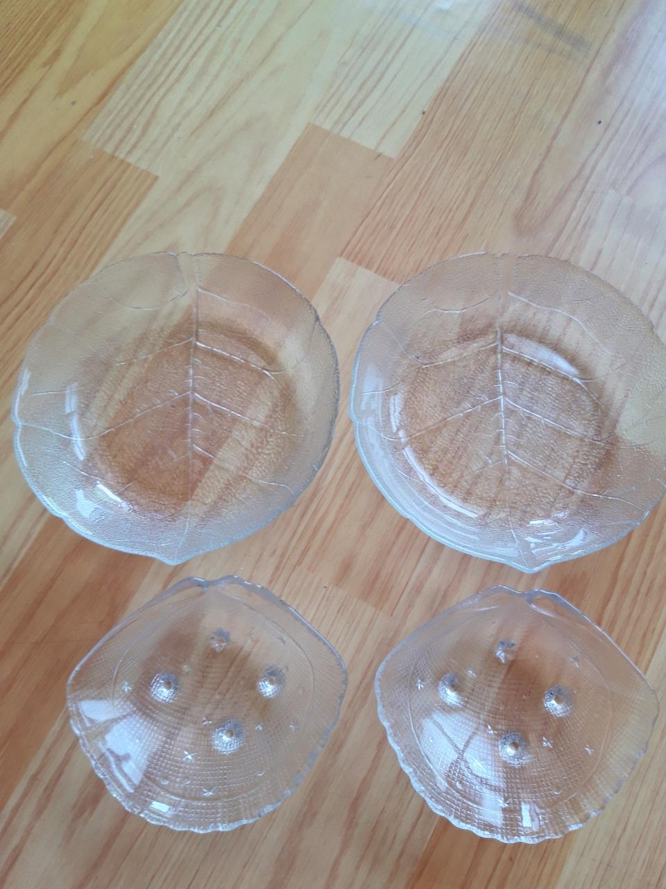 나뭇잎그릇.조개접시4개