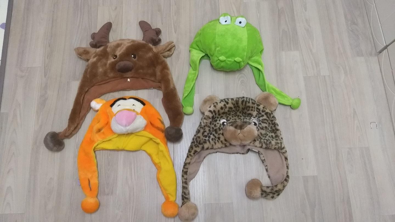 동물 모자 4개 일괄
