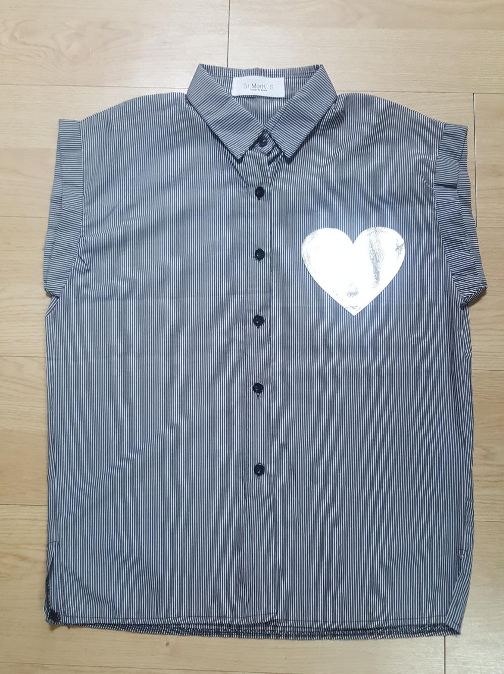 하트 포인트 스트라이프 셔츠
