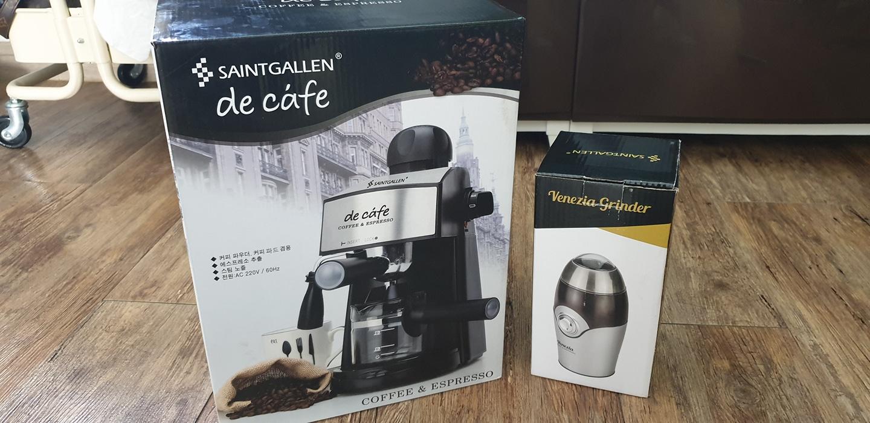 새상품📌세인트갈렌 디카페 커피머신/새상품📌베네치아 커피전동 그라인더