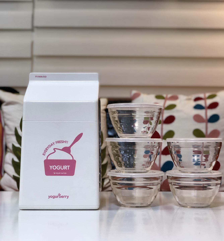 가격내림-♥️요거트 메이커 + 전용 유리 그릇 5개 일괄♥️