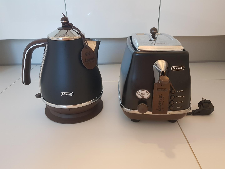 드롱기 토스터기+포트 set