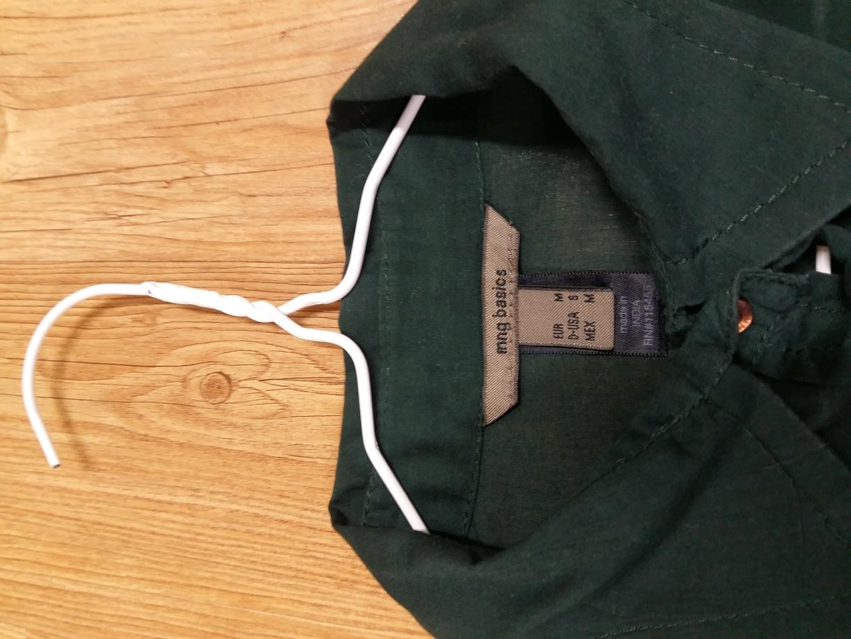MNG 짙은 녹색(쑥색) 셔츠와 MNG 검정색 셔츠, 그리고 STEFANEL 보라색 셔츠