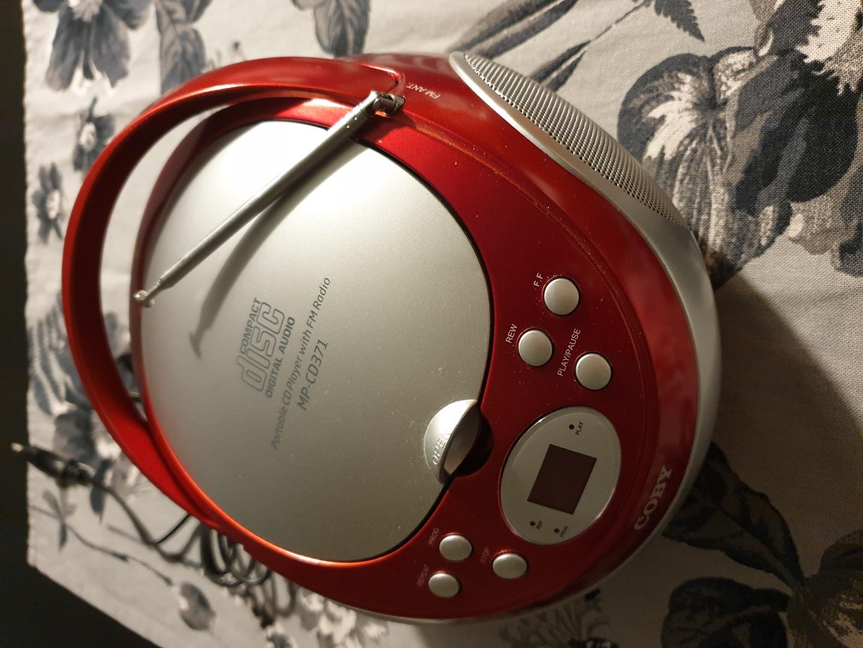 코비 MP-CD371 CD플레이어 MP3포터블 어학 시디플레이어