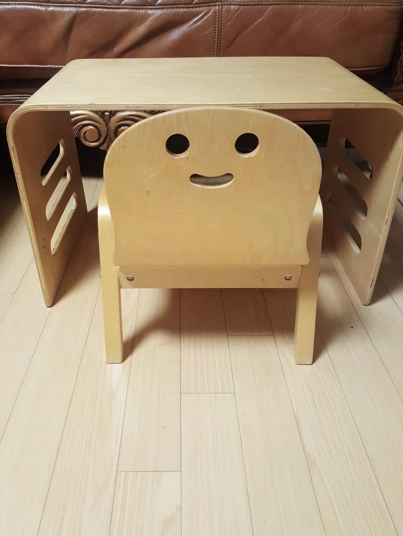 원목 스마일 책상과 의자
