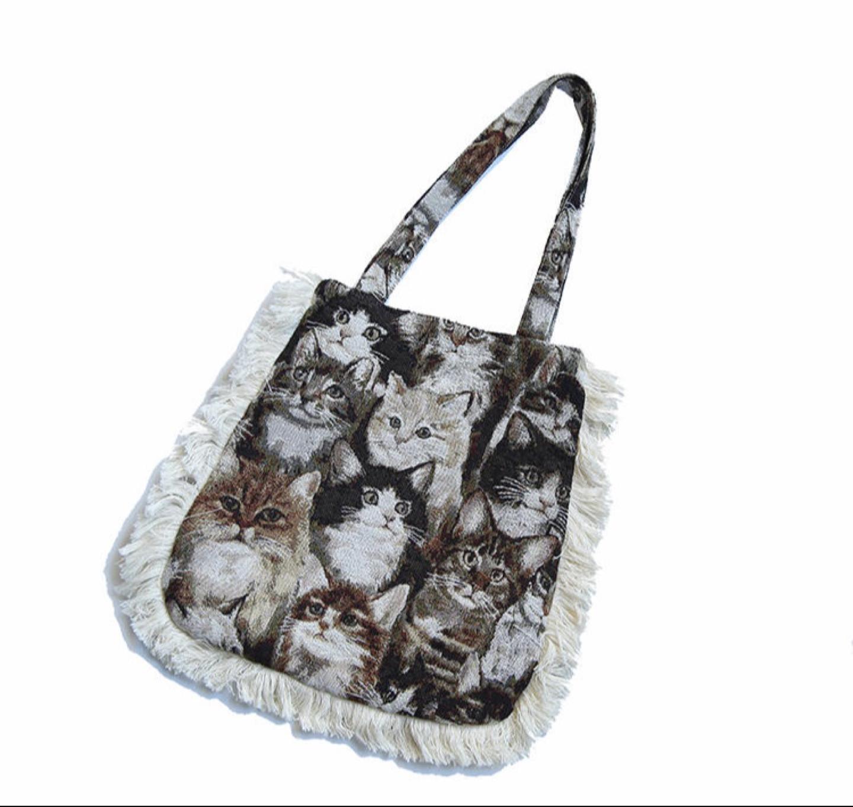자갸드 고양이 가방 에코백 숄더백 새상품
