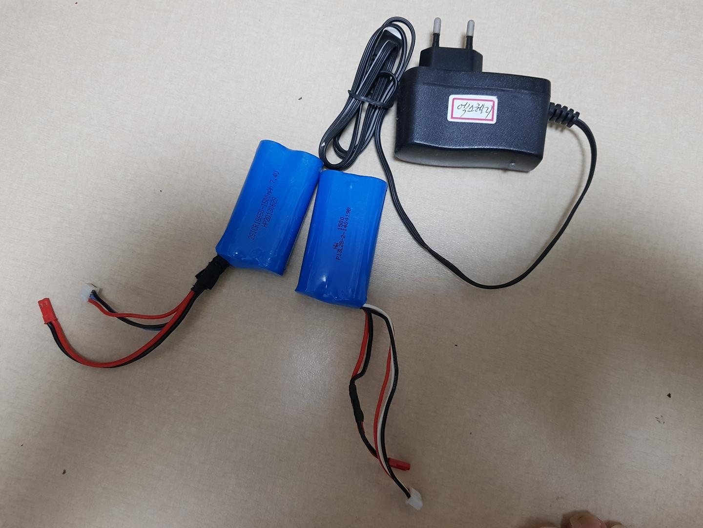 rc용 배터리 두개,충전기 팝니다(리튬폴리머)