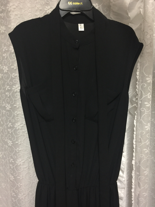 옷 정리해요🎁 블랙 롱원피스/허리끈세트(새제품)
