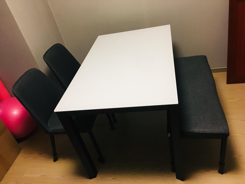 한샘 위든6000 블랙 4인 식탁 식탁의자 식탁세트