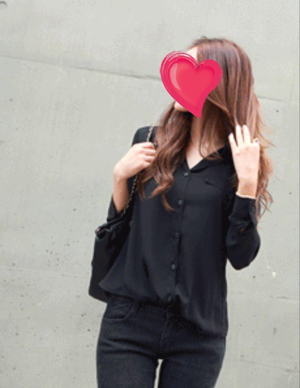 [FREE] 뒤 튤립모양 블랙 BL