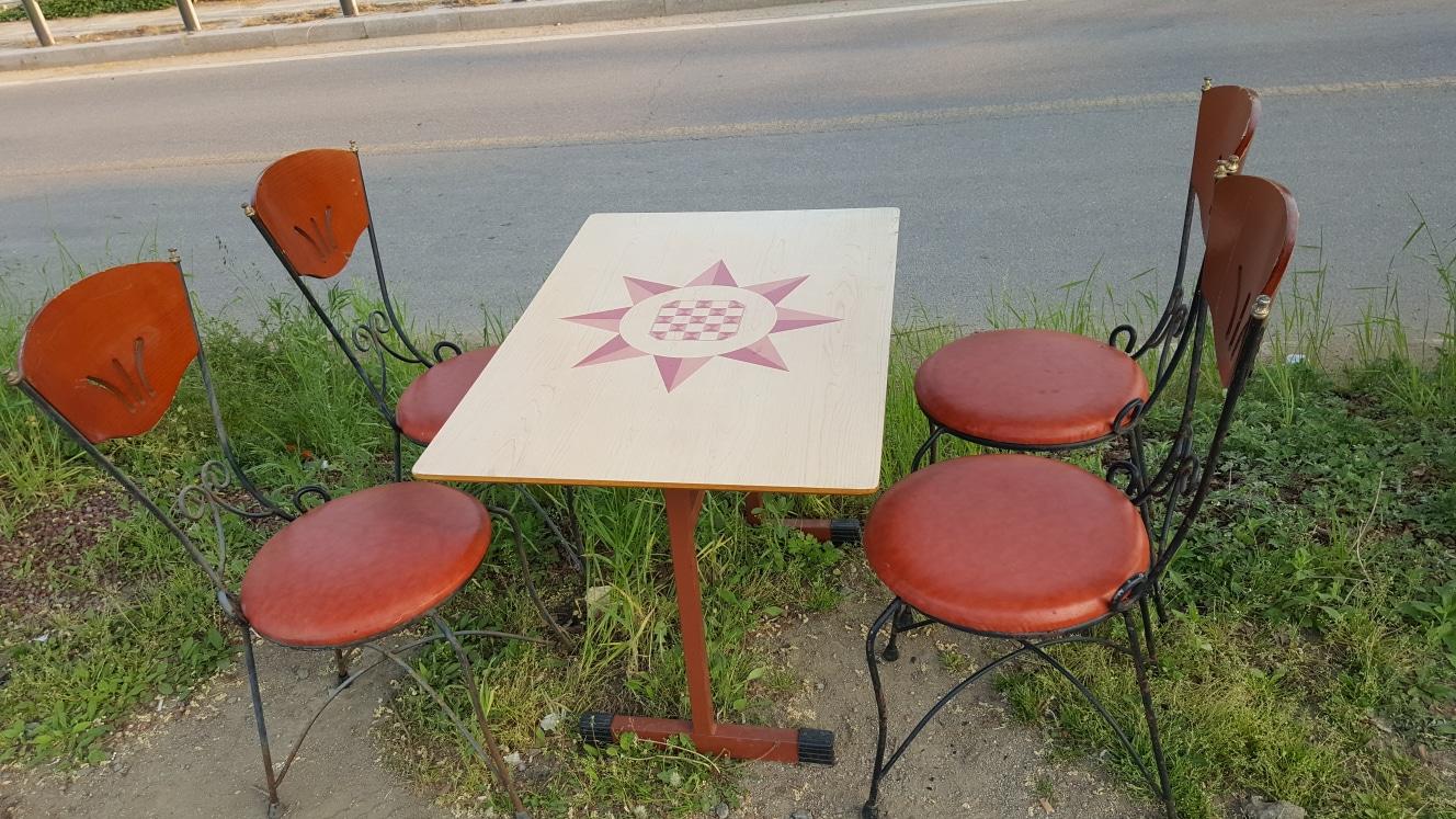 탁자1개.의자 4개(가격내림)