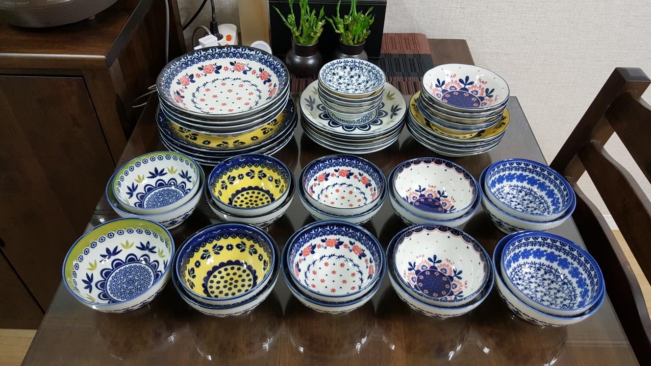 일본 폴로니아 그릇세트47p