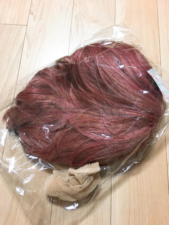분홍색 짧은머리 가발