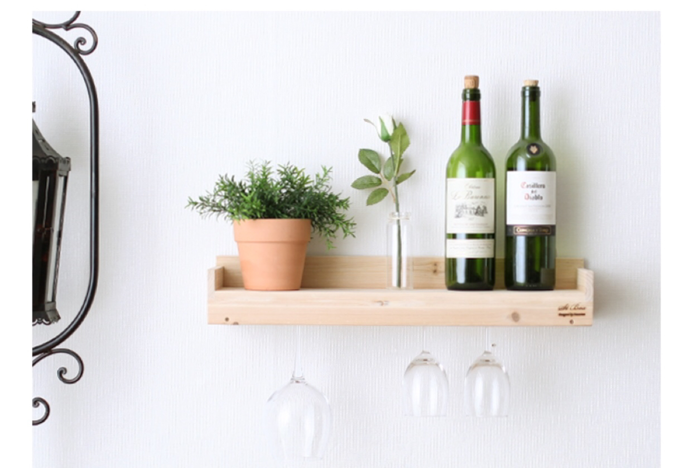 (새상품) 원목선반 와인걸이 벽선반 인테리어