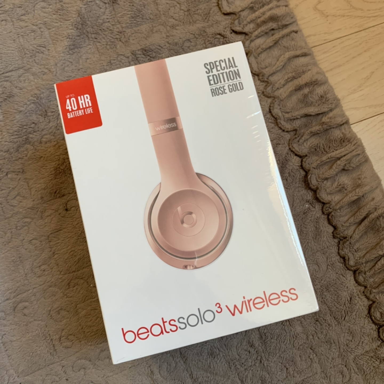 미개봉 beats solo3 wireless 무선 헤드폰 로즈골드