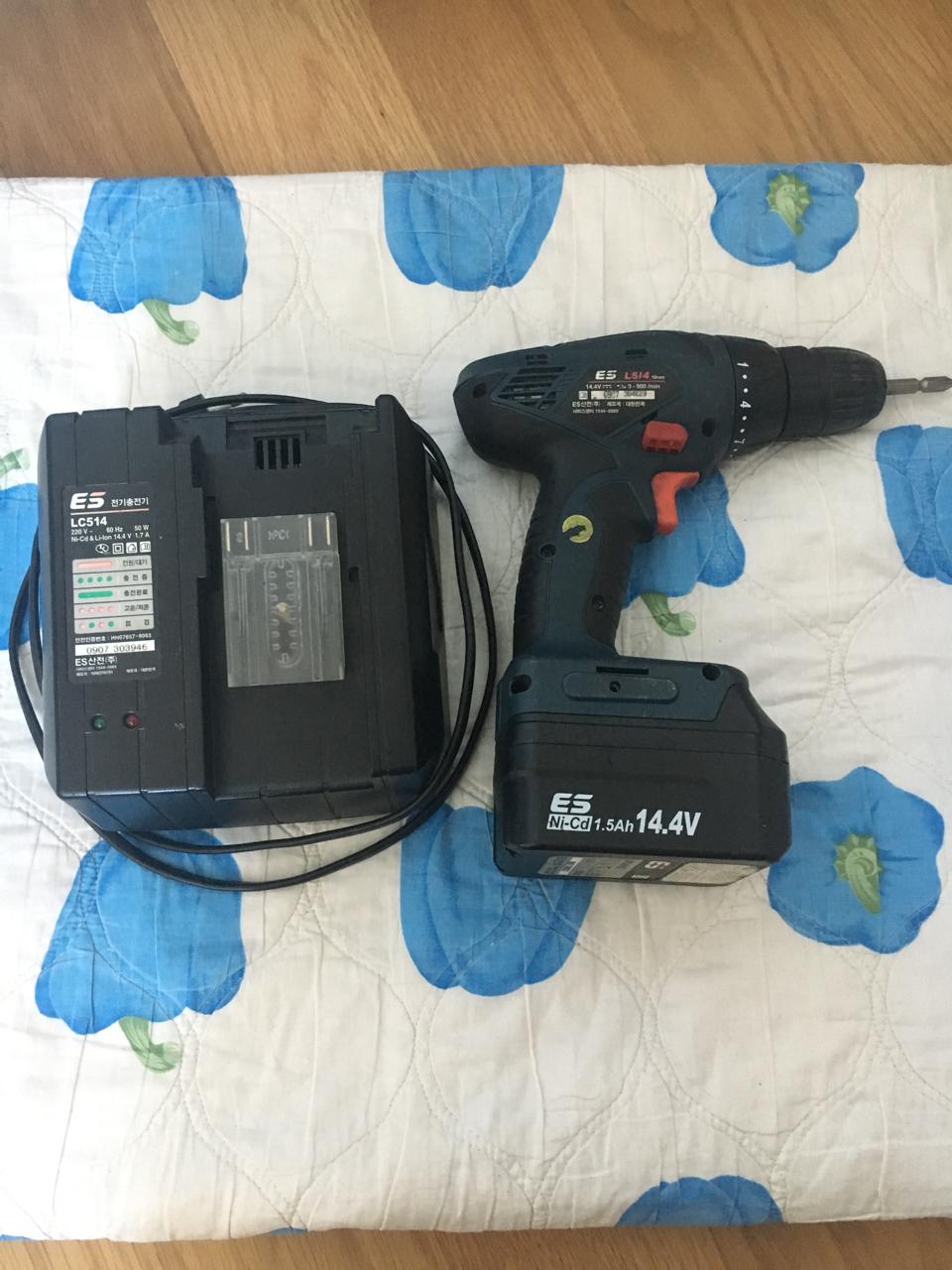 전동공구 ES산전 충전드릴L514 14.4V 전동 드릴