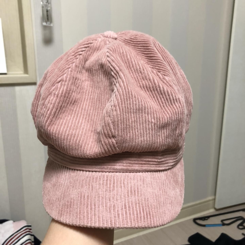 핑크 골덴 빵모자