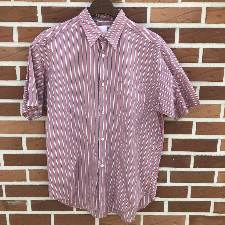 [일본 구제] 핑크 스트라이프 셔츠