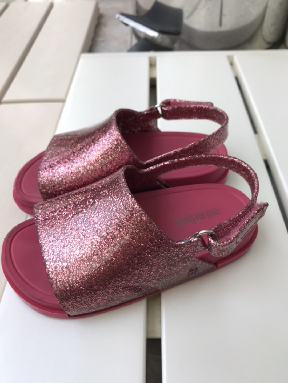 미니멜리사8 비치슬라이드 핑크색