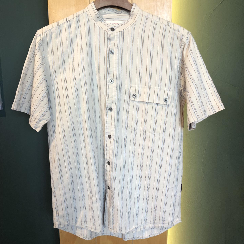 [일본구제] 차이나카라 스티치 포인트 셔츠 L