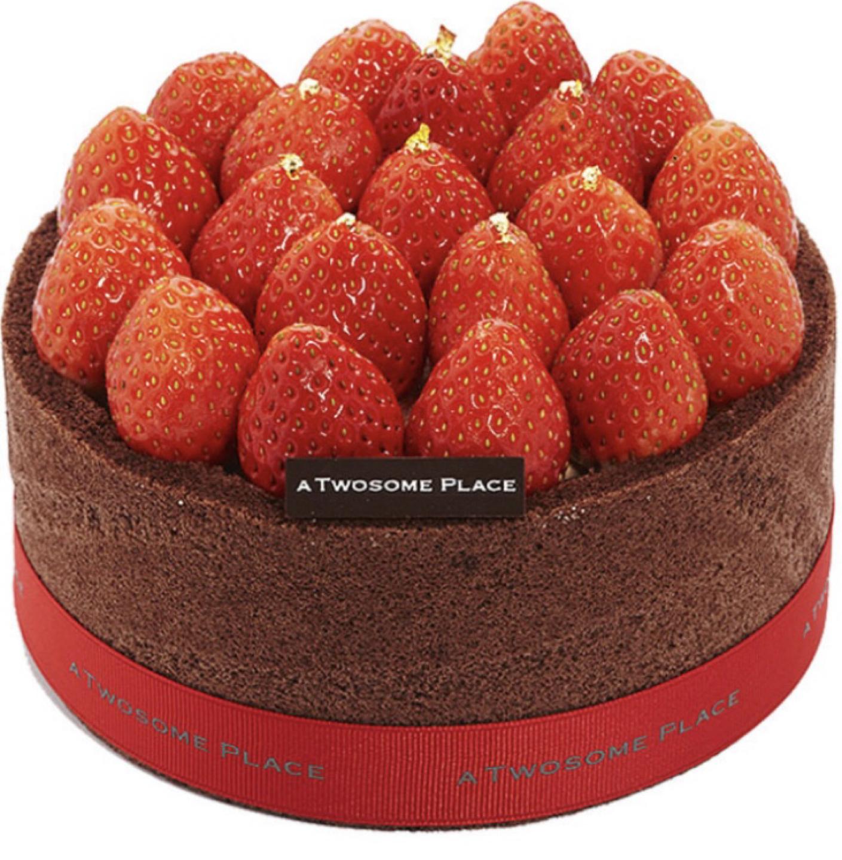 투썸 스트로베리 초콜릿 생크림 케이크