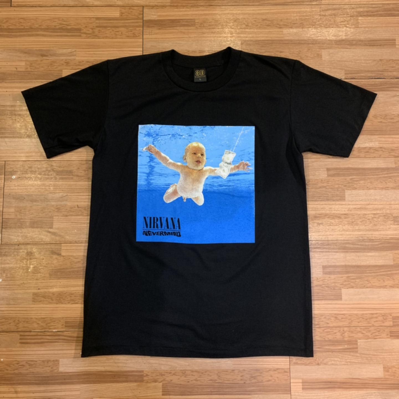 너바나 프린팅 락 티셔츠 L