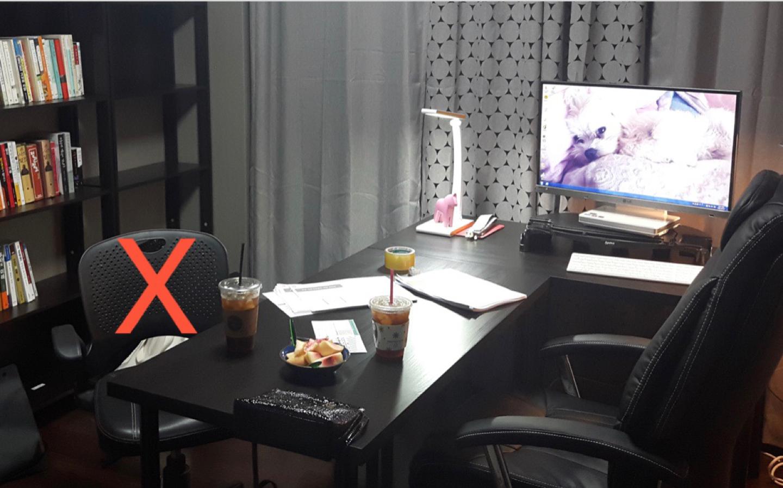 책상2개 + pc방의자
