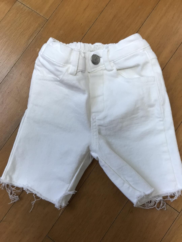 유아 아동 여름 5부팬츠 흰색바지 새상품