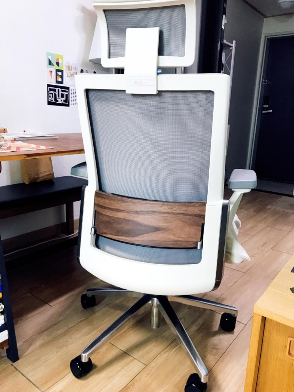 시디즈 가죽 의자 (T800HLDAS 화이트쉘 천연가죽)
