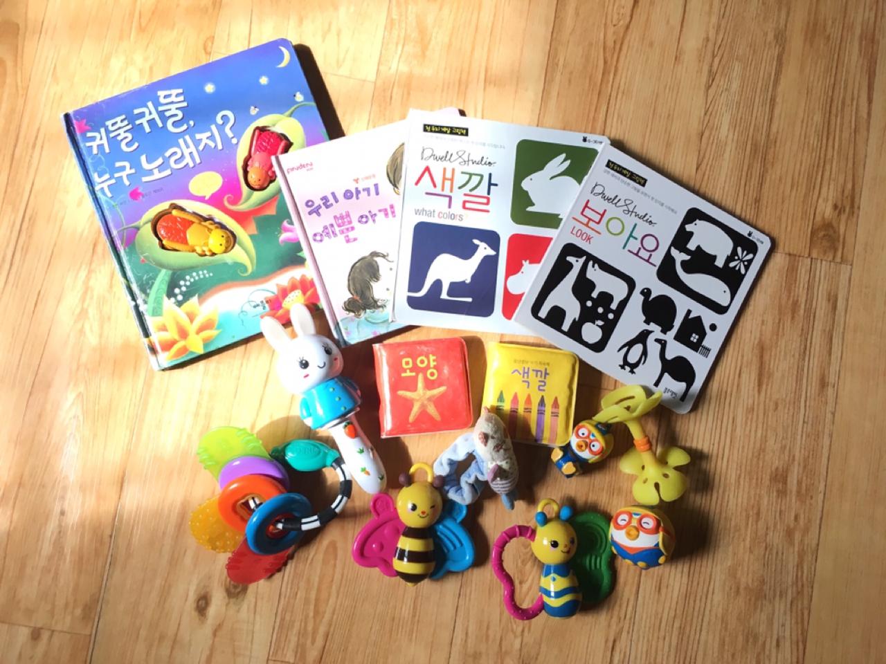 초점책,아기 장난감일괄