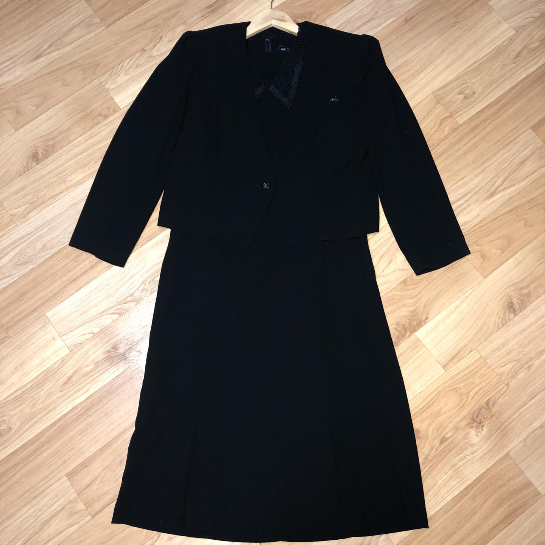 [66] 블랙 드레스 자켓 세트