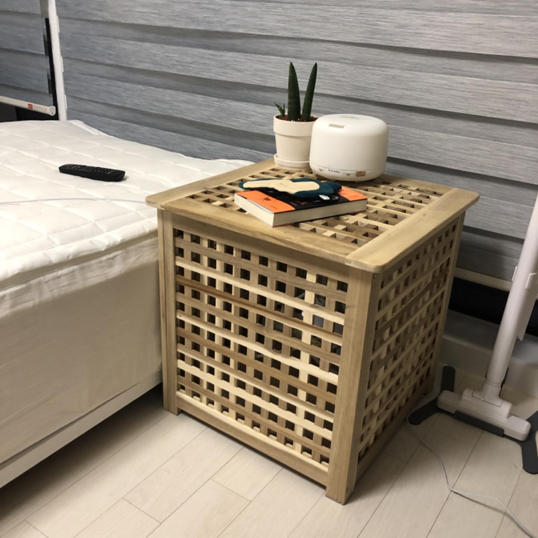 원목사이드테이블(이케아 마켓비 netud)