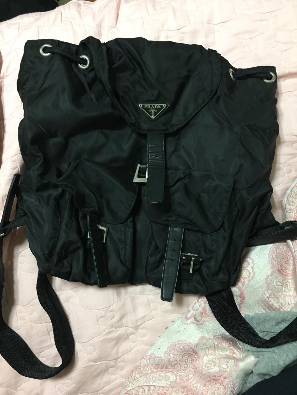 사용감 충만한 배낭가방