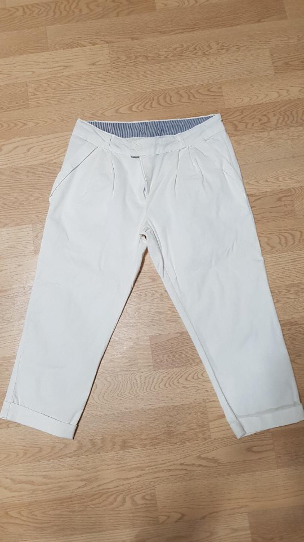 흰색 7부바지 M