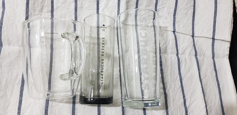 스타벅스 유리컵들 (일괄판매)