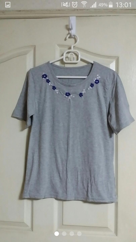 🌷자수 티셔츠