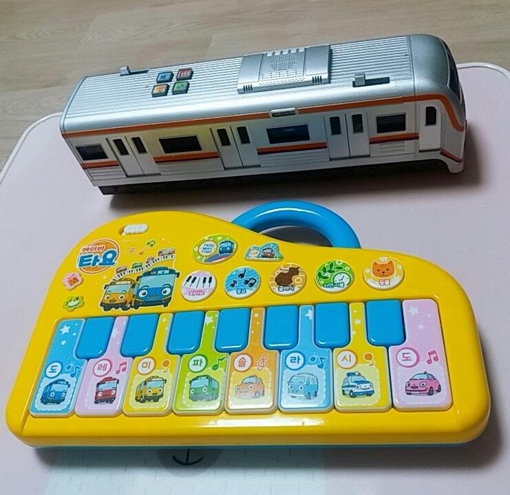 타요피아노&매트지하철장난감