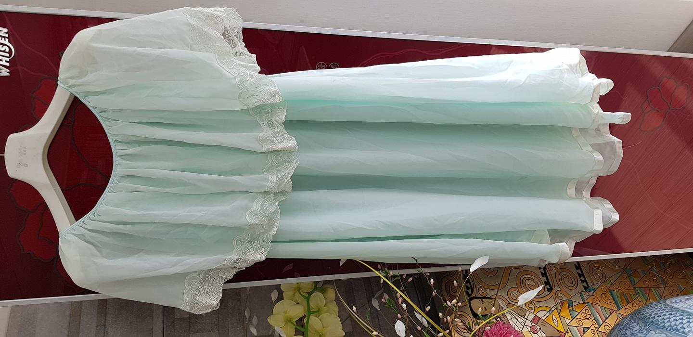 (새상품)레이스 쉬폰 잠옷 - 55~날씬 77사이즈