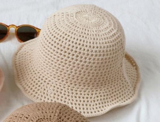 니트 모자 봄여름용 (베이지컬러)