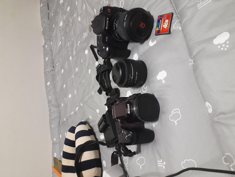 카메라2대 팝니다 소니 a350 니콘 coolpix l840